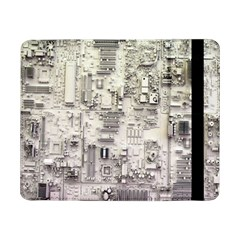 White Technology Circuit Board Electronic Computer Samsung Galaxy Tab Pro 8 4  Flip Case by BangZart