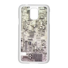 White Technology Circuit Board Electronic Computer Samsung Galaxy S5 Case (white) by BangZart