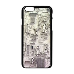 White Technology Circuit Board Electronic Computer Apple Iphone 6/6s Black Enamel Case by BangZart
