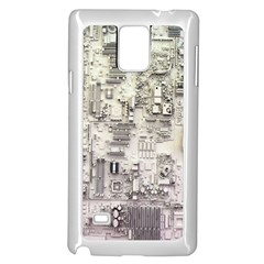 White Technology Circuit Board Electronic Computer Samsung Galaxy Note 4 Case (white) by BangZart