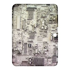 White Technology Circuit Board Electronic Computer Samsung Galaxy Tab 4 (10 1 ) Hardshell Case