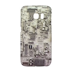 White Technology Circuit Board Electronic Computer Galaxy S6 Edge by BangZart