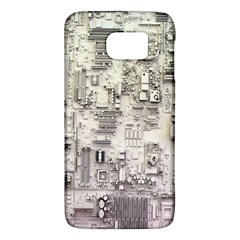 White Technology Circuit Board Electronic Computer Galaxy S6 by BangZart