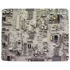 White Technology Circuit Board Electronic Computer Jigsaw Puzzle Photo Stand (rectangular) by BangZart