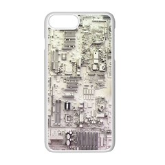 White Technology Circuit Board Electronic Computer Apple Iphone 7 Plus White Seamless Case by BangZart