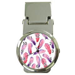 Watercolor Pattern With Feathers Money Clip Watches by BangZart
