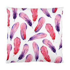 Watercolor Pattern With Feathers Standard Cushion Case (one Side)