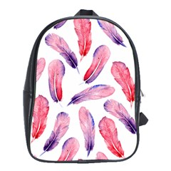 Watercolor Pattern With Feathers School Bags (xl)  by BangZart