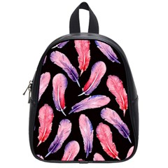Watercolor Pattern With Feathers School Bags (small)  by BangZart