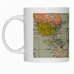 Vintage World Map White Mugs by BangZart