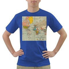 Vintage World Map Dark T Shirt