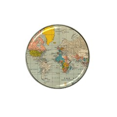 Vintage World Map Hat Clip Ball Marker (10 Pack)
