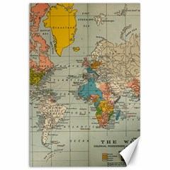 Vintage World Map Canvas 20  X 30   by BangZart