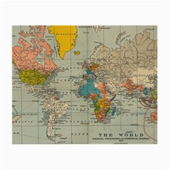 Vintage World Map Small Glasses Cloth (2 Side)