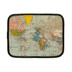 Vintage World Map Netbook Case (small)