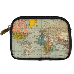 Vintage World Map Digital Camera Cases