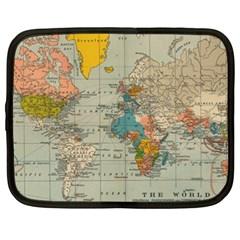 Vintage World Map Netbook Case (xxl)