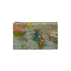 Vintage World Map Cosmetic Bag (small)  by BangZart