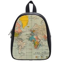 Vintage World Map School Bags (small)  by BangZart