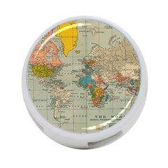 Vintage World Map 4 Port Usb Hub (one Side)