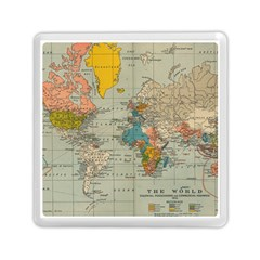 Vintage World Map Memory Card Reader (square)