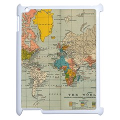 Vintage World Map Apple Ipad 2 Case (white) by BangZart