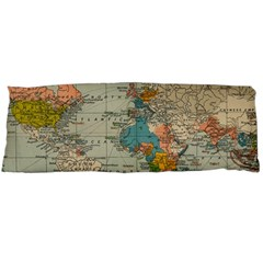 Vintage World Map Body Pillow Case Dakimakura (two Sides)