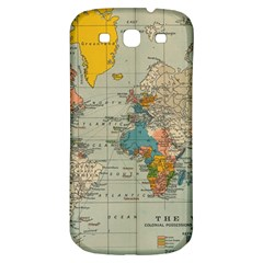 Vintage World Map Samsung Galaxy S3 S Iii Classic Hardshell Back Case by BangZart