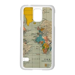 Vintage World Map Samsung Galaxy S5 Case (white)