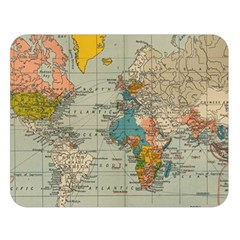 Vintage World Map Double Sided Flano Blanket (large)
