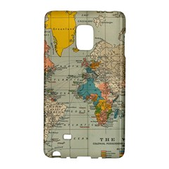 Vintage World Map Galaxy Note Edge by BangZart