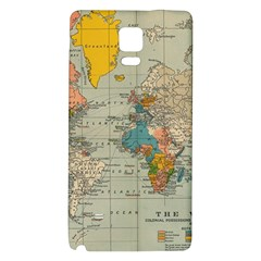 Vintage World Map Galaxy Note 4 Back Case by BangZart