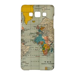 Vintage World Map Samsung Galaxy A5 Hardshell Case
