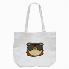 Doodle Owl Face Tote Bag (white) by derpfudge
