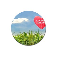 Love Concept Poster Magnet 3  (round) by dflcprints