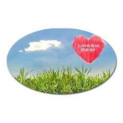 Love Concept Poster Oval Magnet by dflcprints