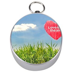 Love Concept Poster Silver Compasses by dflcprints