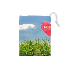Love Concept Poster Drawstring Pouches (small)  by dflcprints