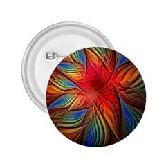 Vintage Colors Flower Petals Spiral Abstract 2 25  Buttons