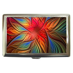 Vintage Colors Flower Petals Spiral Abstract Cigarette Money Cases by BangZart