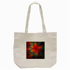 Vintage Colors Flower Petals Spiral Abstract Tote Bag (cream) by BangZart