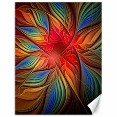 Vintage Colors Flower Petals Spiral Abstract Canvas 18  X 24   by BangZart