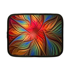 Vintage Colors Flower Petals Spiral Abstract Netbook Case (small)