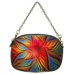 Vintage Colors Flower Petals Spiral Abstract Chain Purses (two Sides)  by BangZart