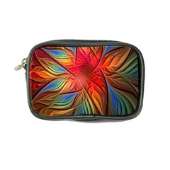 Vintage Colors Flower Petals Spiral Abstract Coin Purse by BangZart