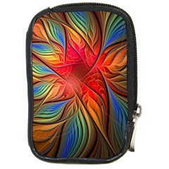 Vintage Colors Flower Petals Spiral Abstract Compact Camera Cases by BangZart