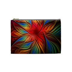 Vintage Colors Flower Petals Spiral Abstract Cosmetic Bag (medium)  by BangZart