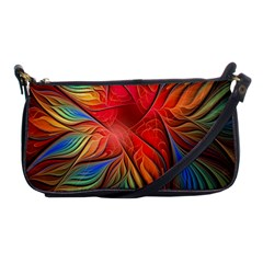 Vintage Colors Flower Petals Spiral Abstract Shoulder Clutch Bags by BangZart