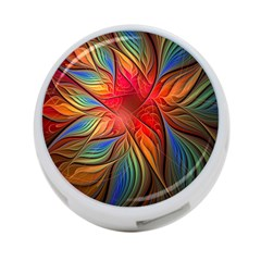 Vintage Colors Flower Petals Spiral Abstract 4 Port Usb Hub (two Sides)