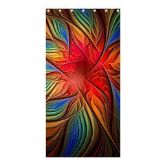 Vintage Colors Flower Petals Spiral Abstract Shower Curtain 36  X 72  (stall)  by BangZart